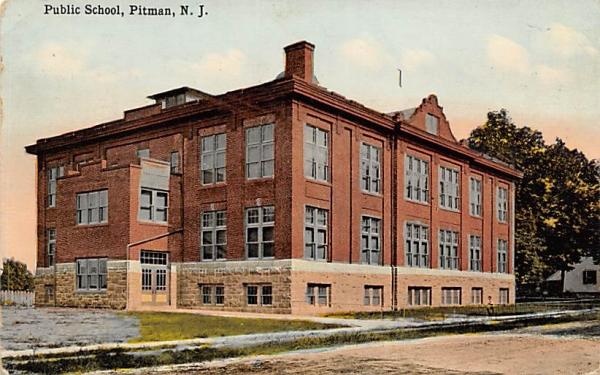 Public School Pitman, New Jersey Postcard