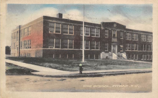 High School Pitman, New Jersey Postcard