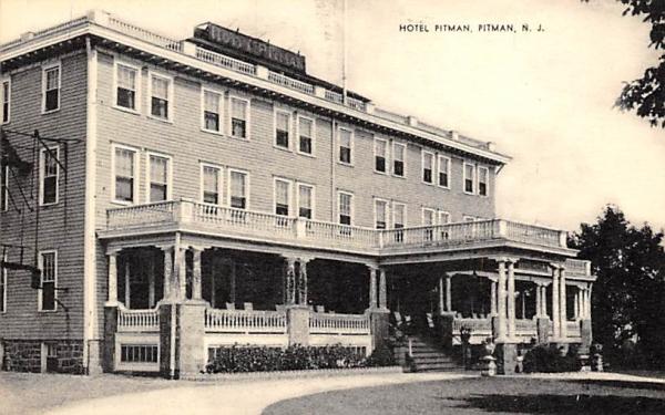 Hotel Pitman New Jersey Postcard