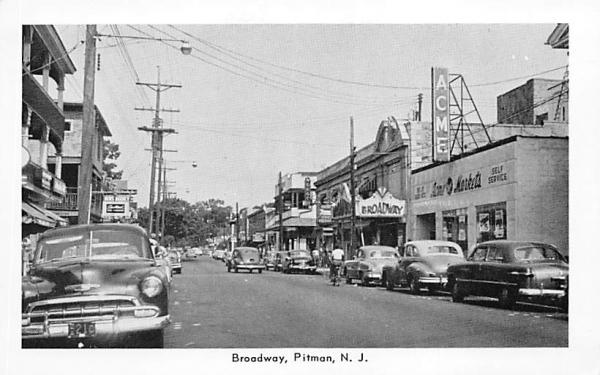 Broadway  Pitman, New Jersey Postcard