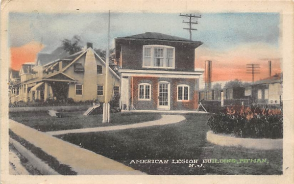 American Legion Building Pitman, New Jersey Postcard