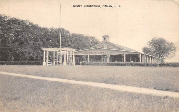 Sunset Auditorium Pitman, New Jersey Postcard