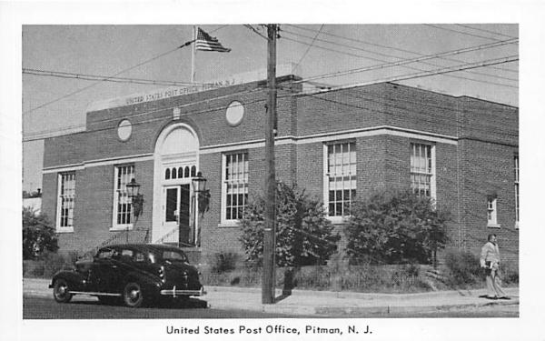 United States Post Office Pitman, New Jersey Postcard