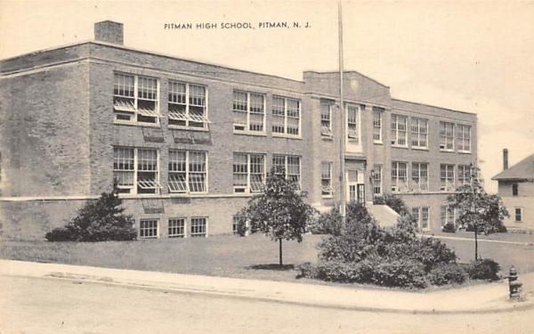 Pitman High School New Jersey Postcard