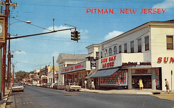 View of South Broadway, looking North Pitman, New Jersey Postcard
