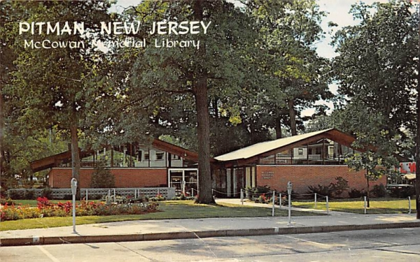 McCowan Memorial Library Pitman, New Jersey Postcard