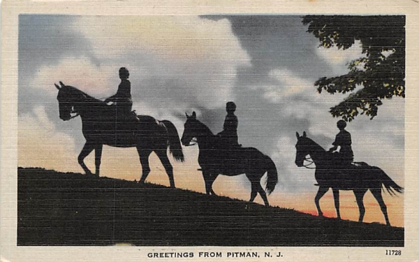 Greetings from Pitman, N. J., USA New Jersey Postcard