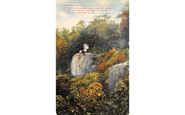 Washington Rock Plainfield, New Jersey Postcard
