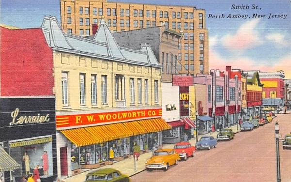 Smith St. Perth Amboy, New Jersey Postcard