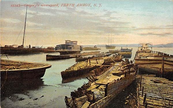 Gregory's Graveyard Perth Amboy, New Jersey Postcard