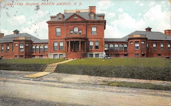 City Hospital Perth Amboy, New Jersey Postcard