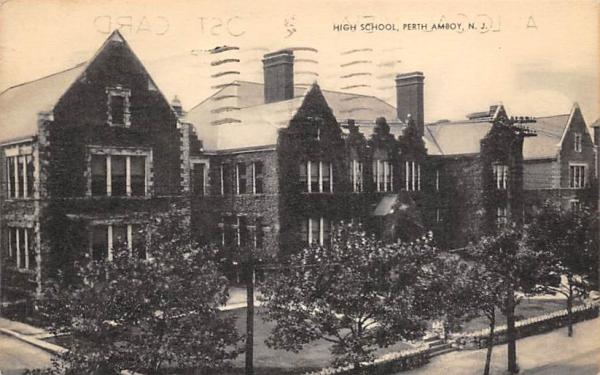 High School Perth Amboy, New Jersey Postcard