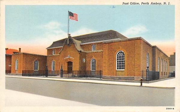 Post Office Perth Amboy, New Jersey Postcard