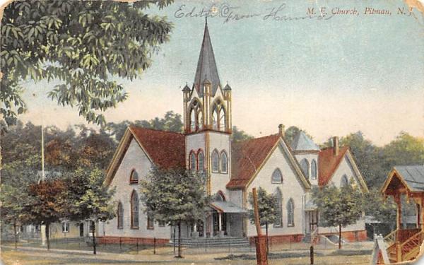 M. E. Church Pitman, New Jersey Postcard