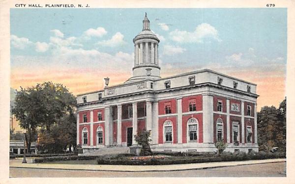 City Hall Plainfield, New Jersey Postcard
