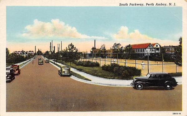 South Parkway Perth Amboy, New Jersey Postcard