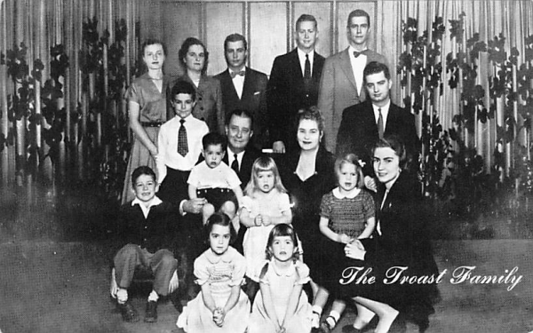 The Troast Family, Post marked Pitman, NJ New Jersey Postcard