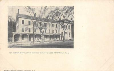 Old Laing's Hotel (now Babcock Building Site) Plainfield, New Jersey Postcard