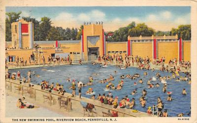 The New Swimming Pool, Riverview Beach Pennsville, New Jersey Postcard