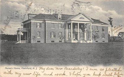 Nurse's Home Plainfield, New Jersey Postcard