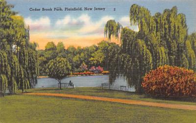 Cedar Brook Park Plainfield, New Jersey Postcard