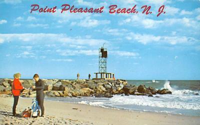 A scuba diver getting ready  Point Pleasant Beach, New Jersey Postcard