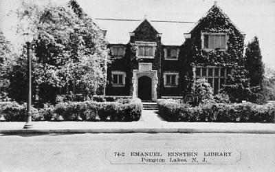Emanuel Einstein Library Pompton Lakes, New Jersey Postcard