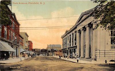 Park Avenue Plainfield, New Jersey Postcard