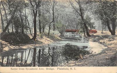 Scene from Sycamore Ave. Bridge Plainfield, New Jersey Postcard