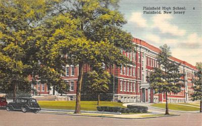 Plainfield High School New Jersey Postcard
