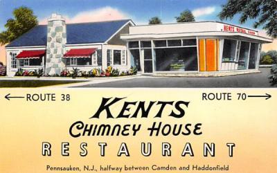 Kents Chimney House Restaurant Pennsauken, New Jersey Postcard