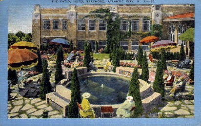 The Patio, Hotel Traymore - Atlantic City, New Jersey NJ Postcard
