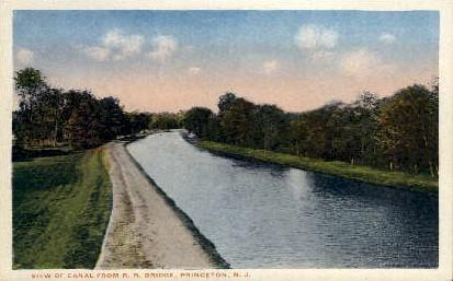 View of Canal - Princeton, New Jersey NJ Postcard