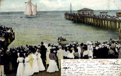 Fishing Pier and Yacht Landing - Asbury Park, New Jersey NJ Postcard