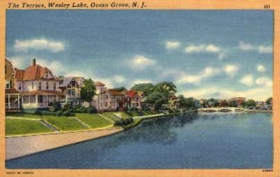The Terrace, Wesley Lake - Ocean Grove, New Jersey NJ Postcard