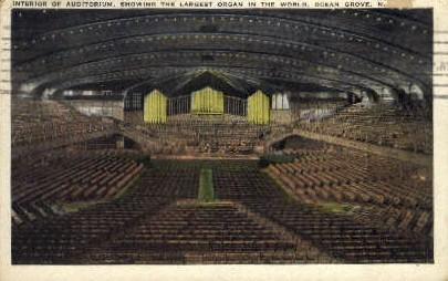 Auditorium, Largest Organ in the World - Ocean Grove, New Jersey NJ Postcard