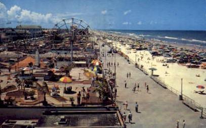 The Daytona Beach Boardwalk - Misc, New Jersey NJ Postcard