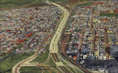 New Jersey Turnpike - Elizabeth Postcard
