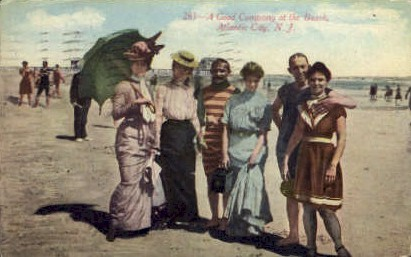 A Good Company at the Beach - Atlantic City, New Jersey NJ Postcard