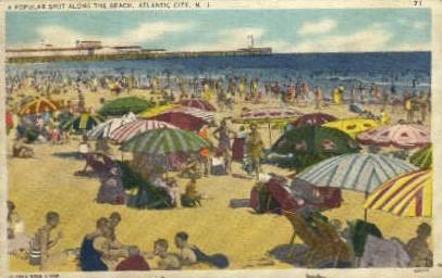 A Popular Spot Along the Beach - Atlantic City, New Jersey NJ Postcard