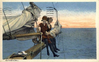 Out for a Sail - Misc, New Jersey NJ Postcard