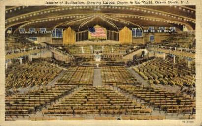 Auditorium, Largest Organ in World - Ocean City, New Jersey NJ Postcard