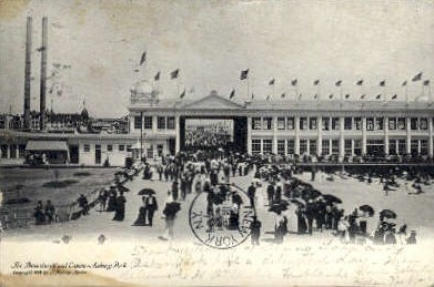 The Boardwalk and Casino - Asbury Park, New Jersey NJ Postcard