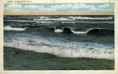 Surf - Ocean City, New Jersey NJ Postcard