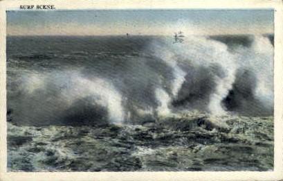 Surf Scene - Misc, New Jersey NJ Postcard