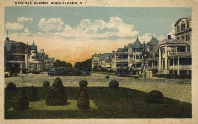 7th Ave.  - Asbury Park, New Jersey NJ Postcard