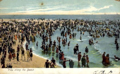 View Along the Beach - Misc, New Jersey NJ Postcard