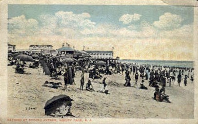 Bathing at 2nd Ave.  - Asbury Park, New Jersey NJ Postcard