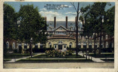 Main Entrance, The Laurel-in-the-Pines - Lakewood, New Jersey NJ Postcard