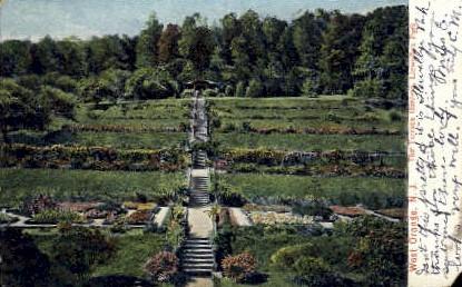 The Terrace Gardens, Llewellyn Park - West Orange, New Jersey NJ Postcard